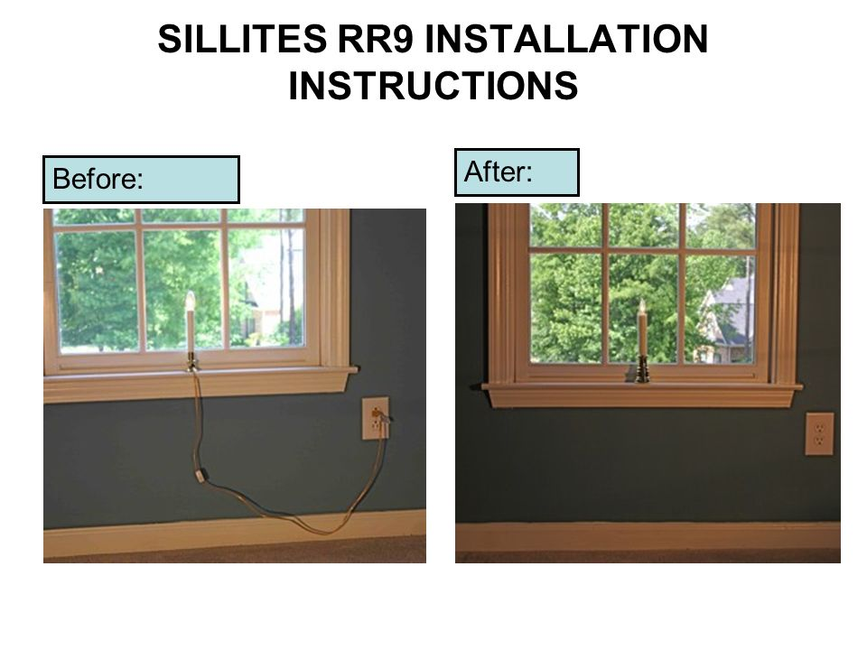 SILLITES RR9 INSTALLATION INSTRUCTIONS
