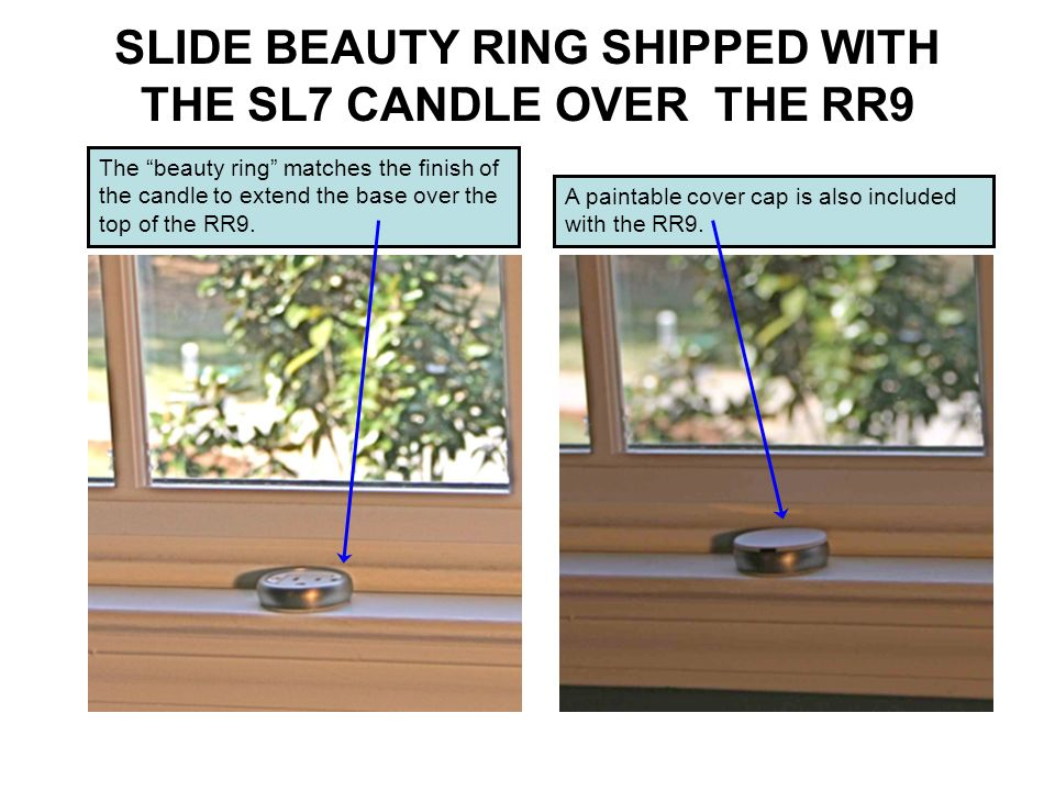 SLIDE BEAUTY RING SHIPPED WITH THE SL7 CANDLE OVER THE RR9