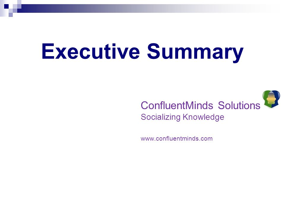 ConfluentMinds Solutions Socializing Knowledge