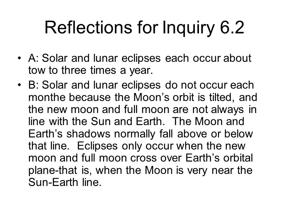 Reflections for Inquiry 6.2