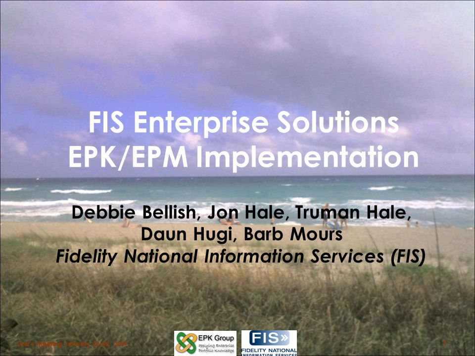 FIS Enterprise Solutions EPK/EPM Implementation