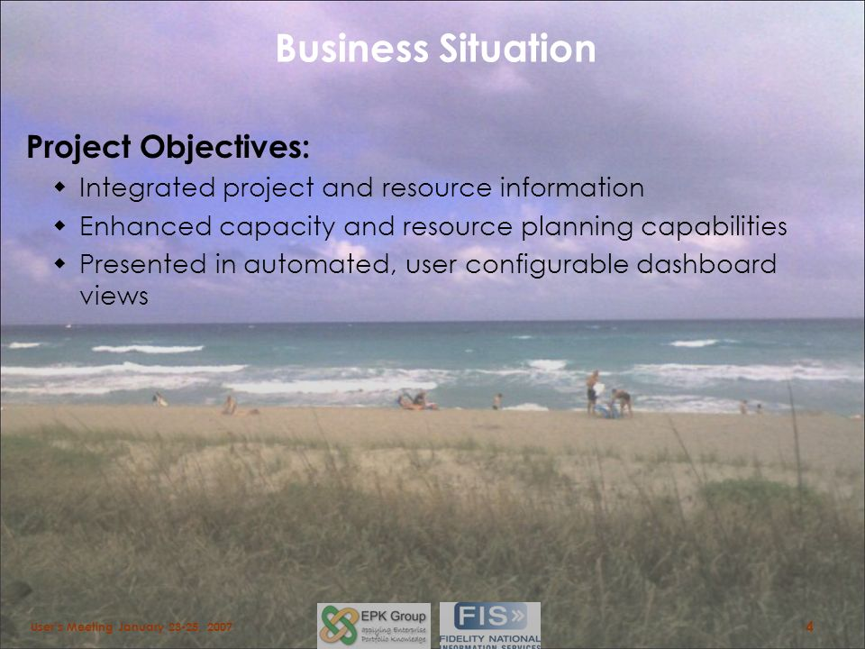 Business Situation Project Objectives: