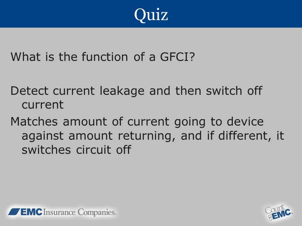 Quiz What is the function of a GFCI