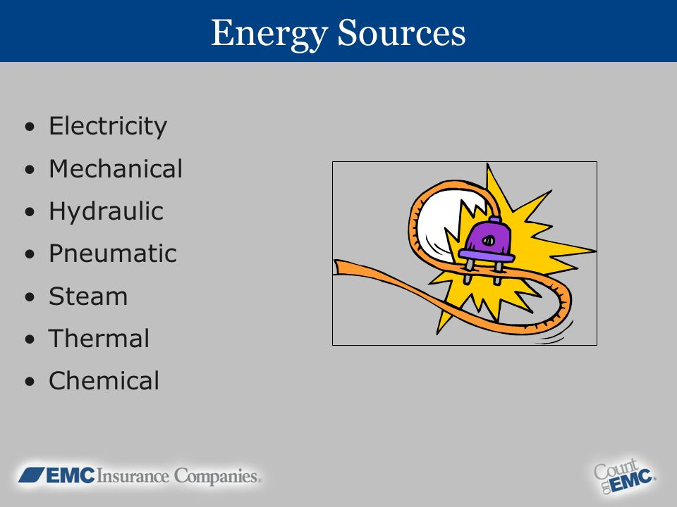 Energy Sources Electricity Mechanical Hydraulic Pneumatic Steam
