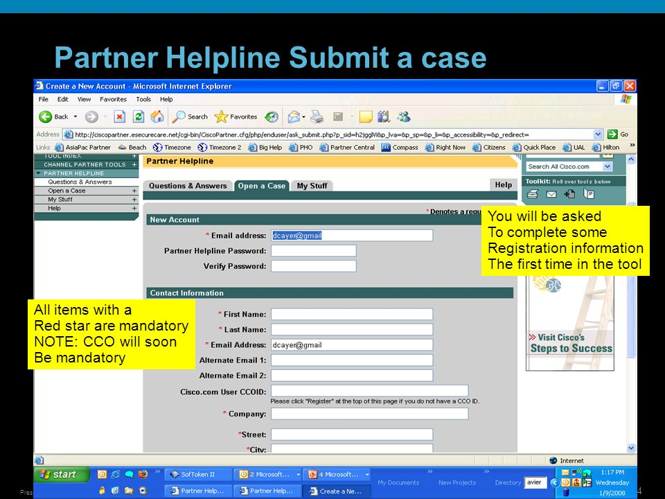 Partner Helpline Submit a case
