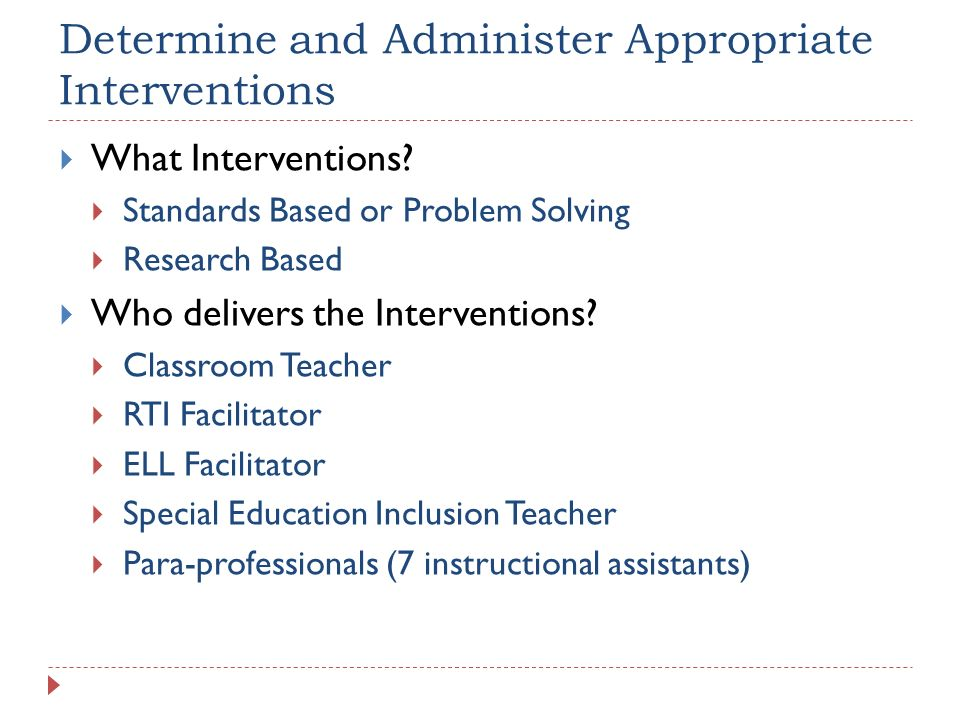 Determine and Administer Appropriate Interventions
