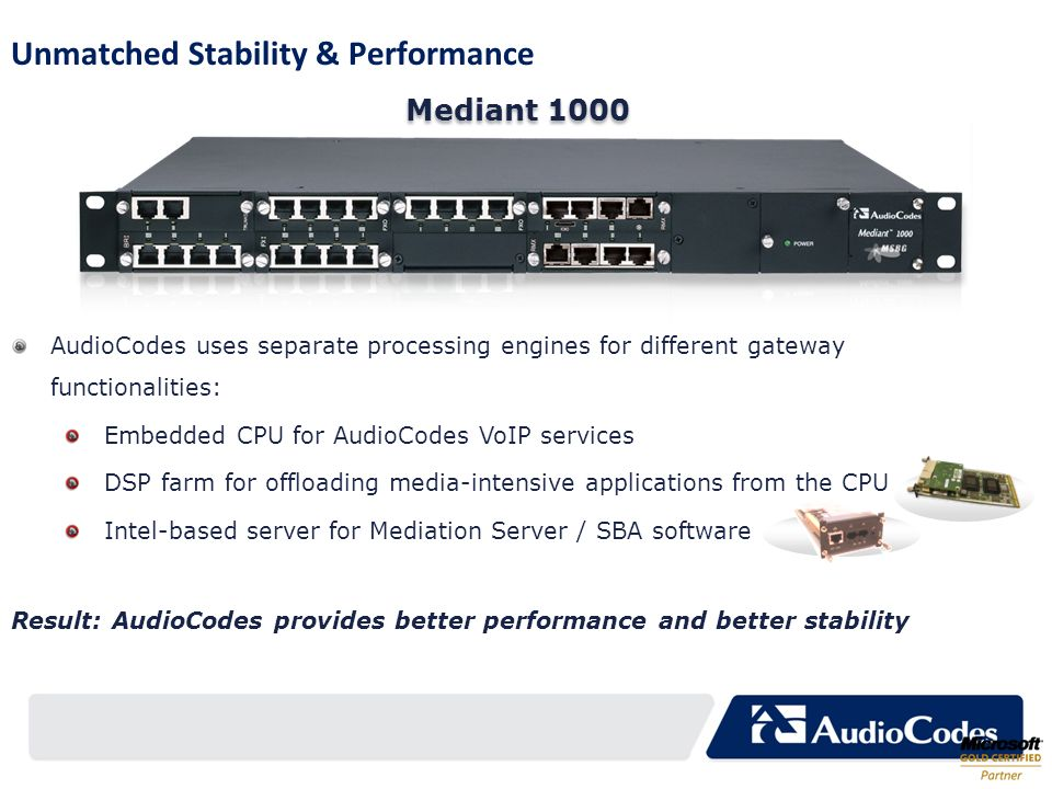 Unmatched Stability & Performance