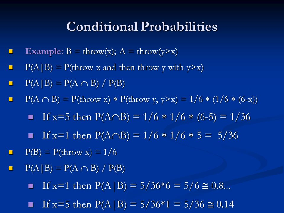 Conditional Probabilities
