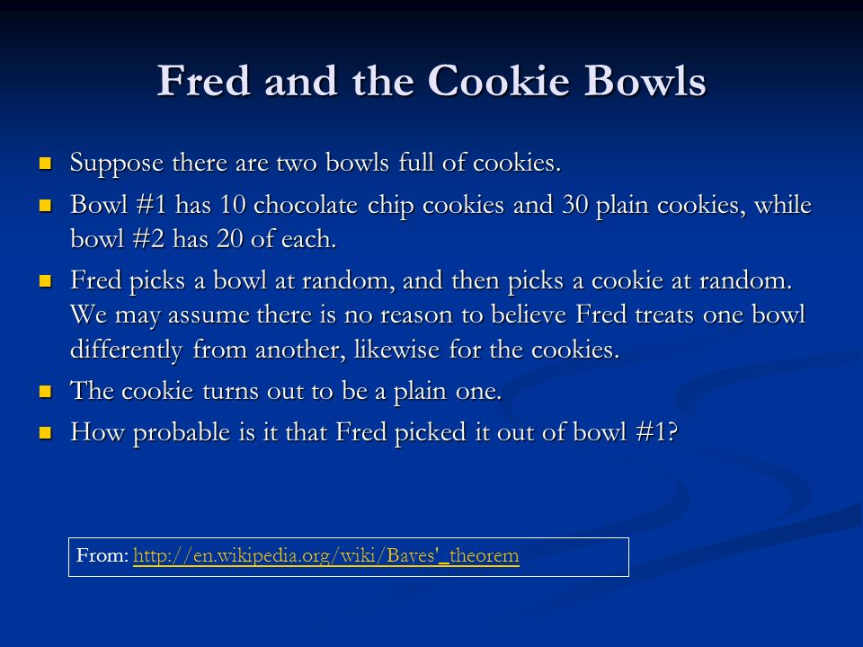 Fred and the Cookie Bowls