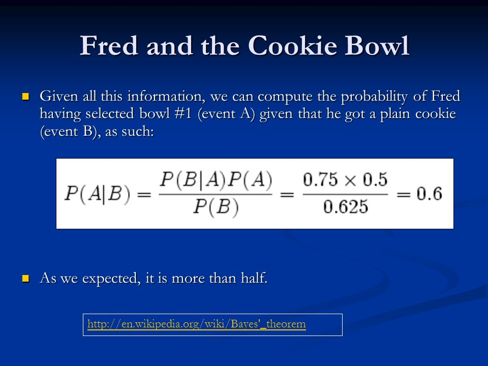 Fred and the Cookie Bowl