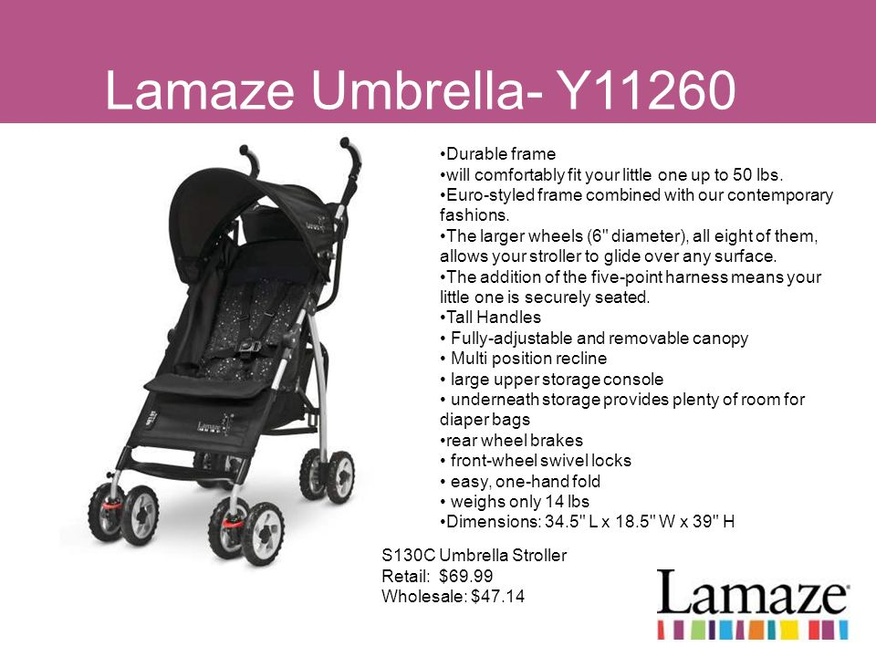 Lamaze Umbrella- Y11260 Durable frame