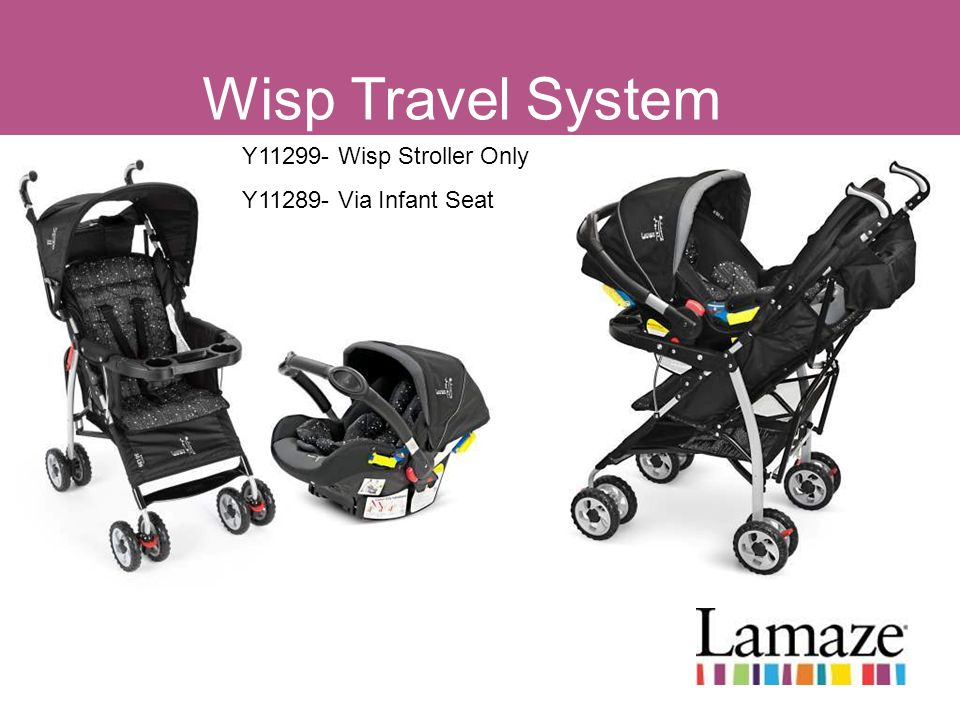 Wisp Travel System Y11299- Wisp Stroller Only Y11289- Via Infant Seat
