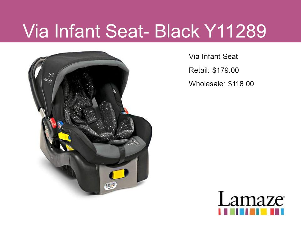 Via Infant Seat- Black Y11289
