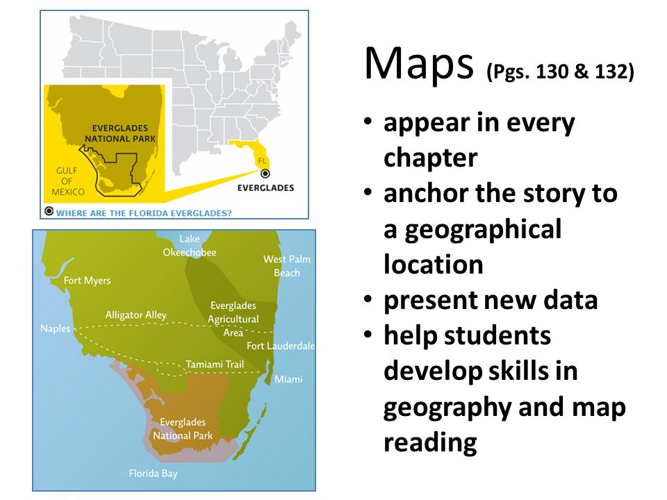 Maps (Pgs. 130 & 132) appear in every chapter