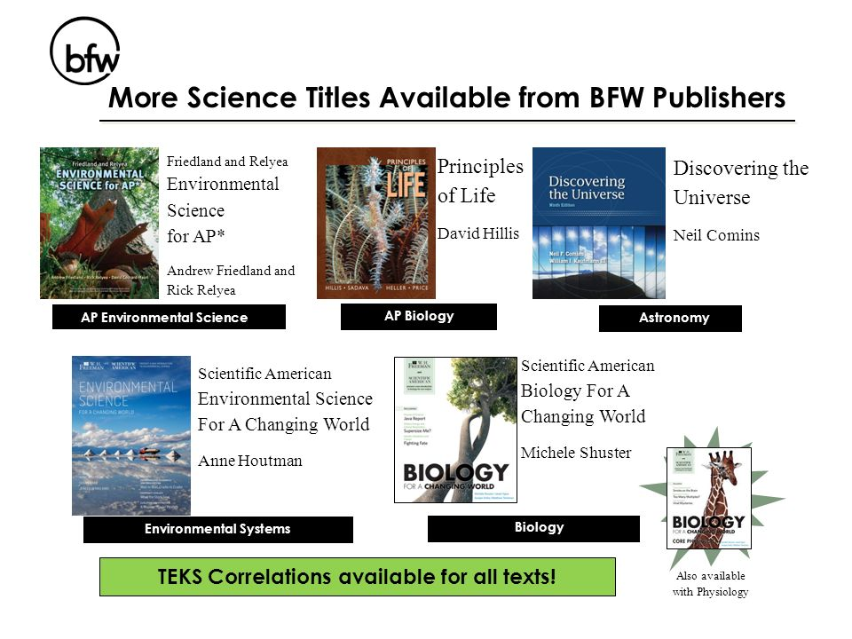TEKS Correlations available for all texts!
