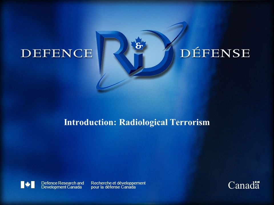 Introduction: Radiological Terrorism