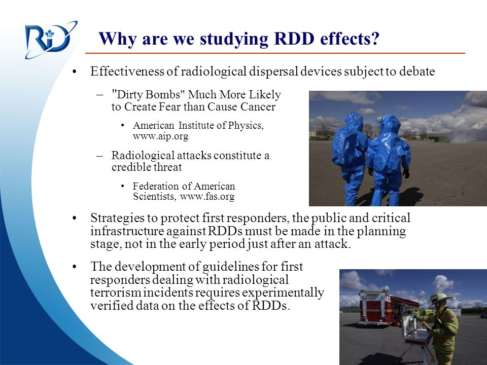 Why are we studying RDD effects