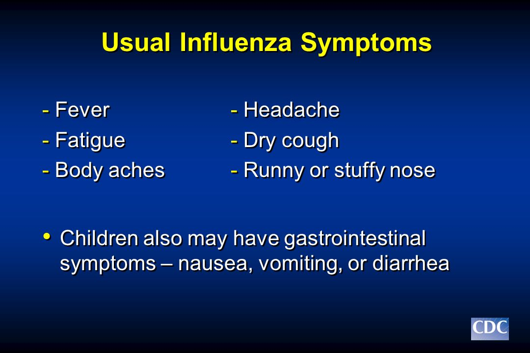 Usual Influenza Symptoms