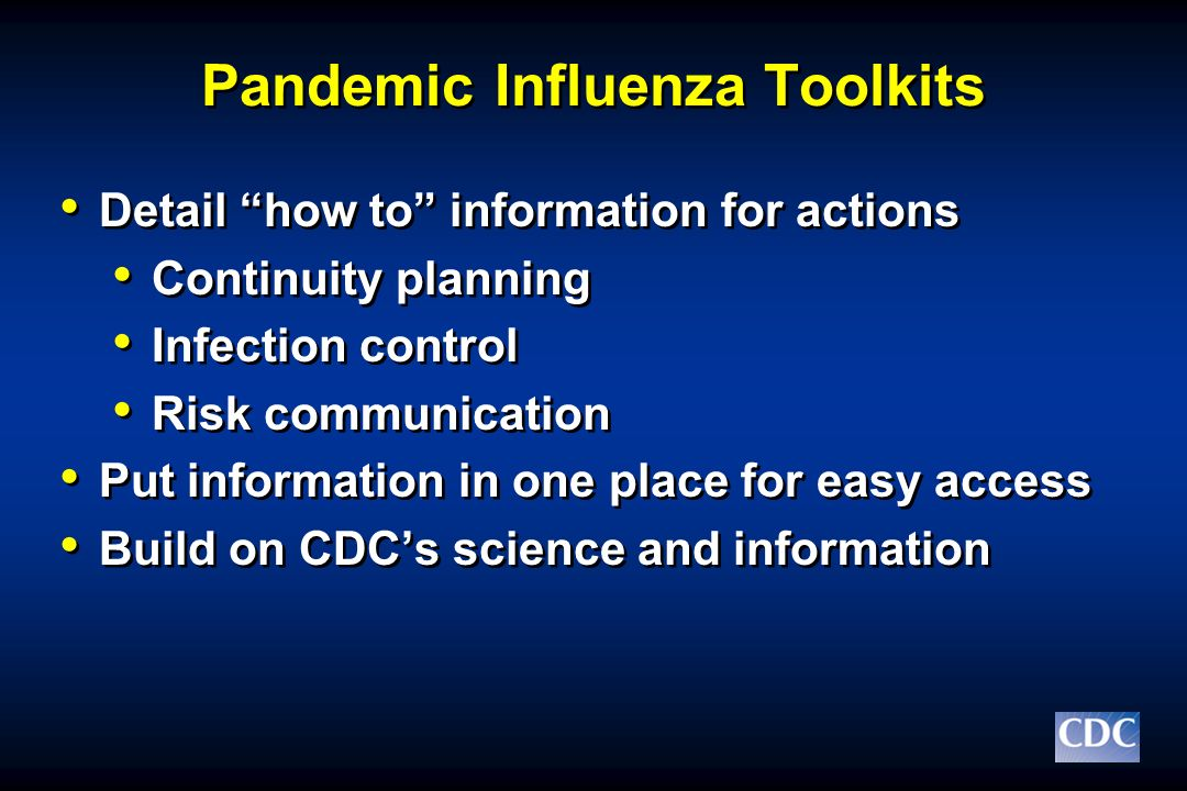 Pandemic Influenza Toolkits