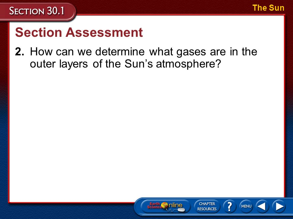 The Sun Section Assessment.