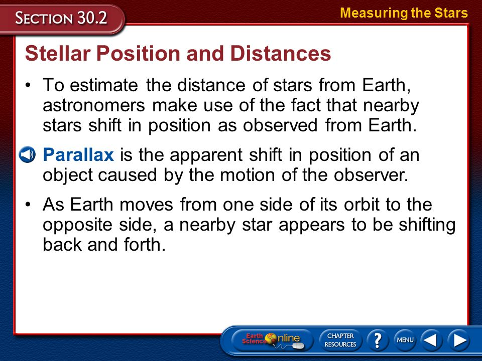 Stellar Position and Distances