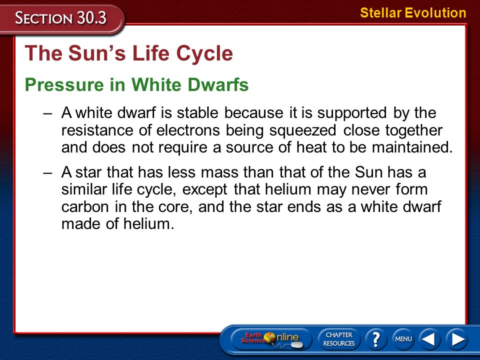 The Sun's Life Cycle Pressure in White Dwarfs