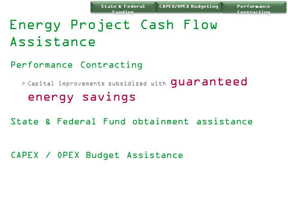 Energy Project Cash Flow Assistance