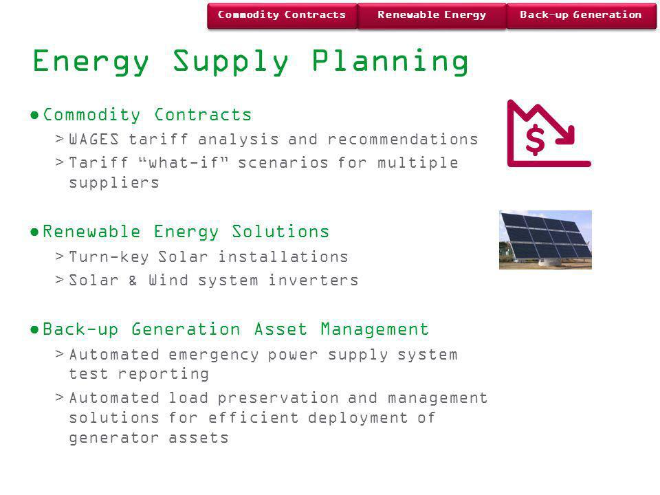Energy Supply Planning