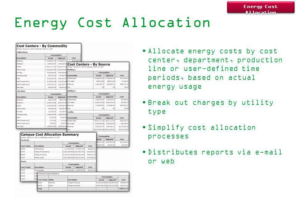 Energy Cost Allocation