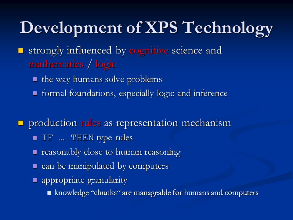 Development of XPS Technology