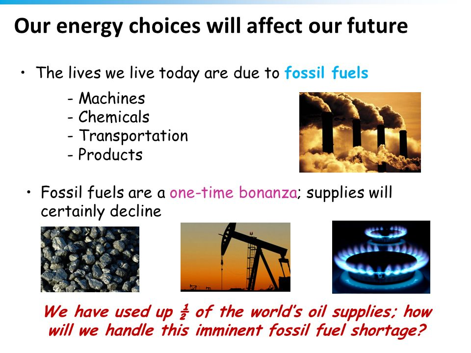 Our energy choices will affect our future
