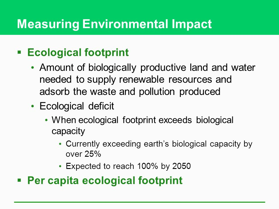 Measuring Environmental Impact
