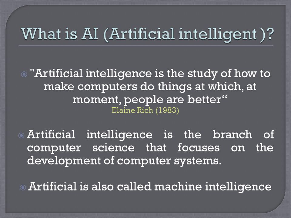 What is AI (Artificial intelligent )