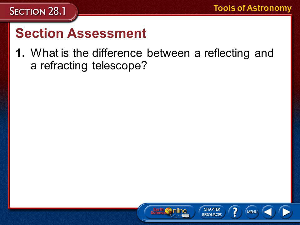 Tools of Astronomy Section Assessment.