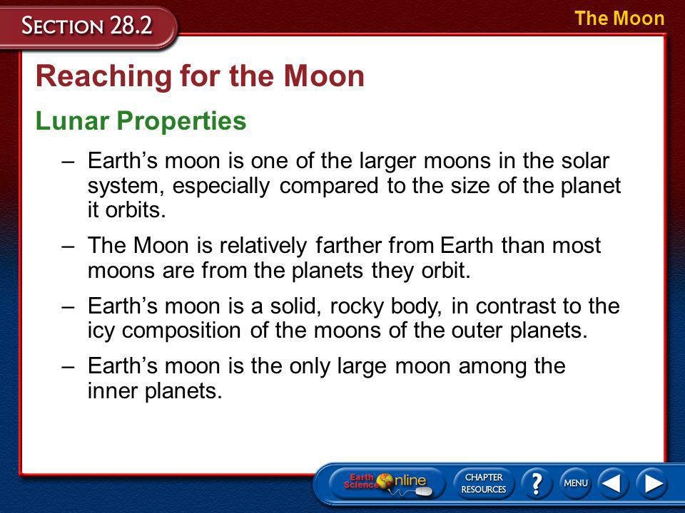 Reaching for the Moon Lunar Properties