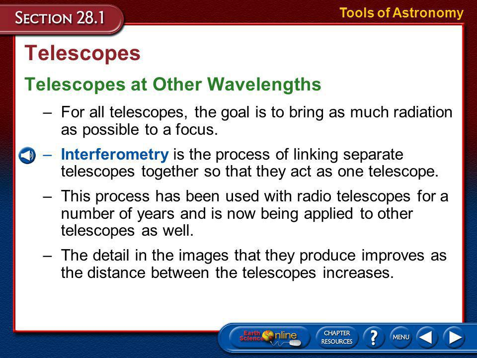 Telescopes Telescopes at Other Wavelengths