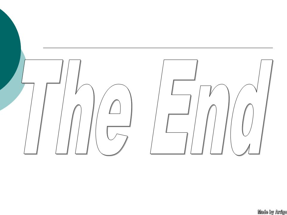 The End Made by Arrigo