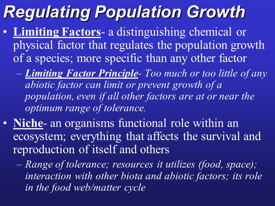 Regulating Population Growth