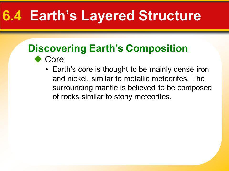 6.4 Earth's Layered Structure