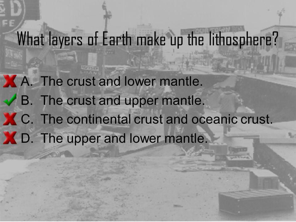 What layers of Earth make up the lithosphere