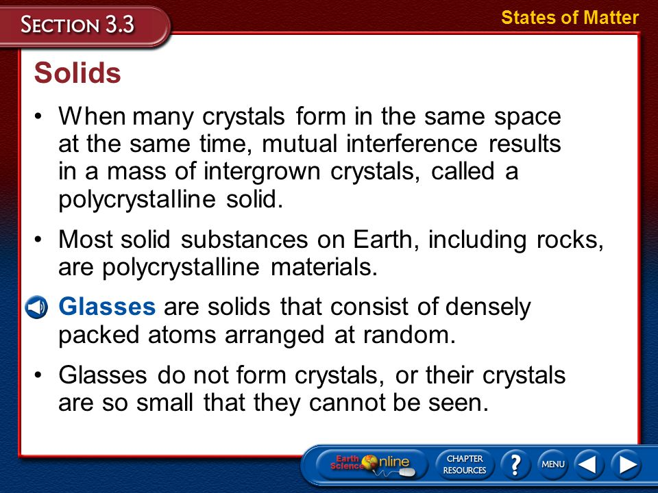 States of Matter Solids.