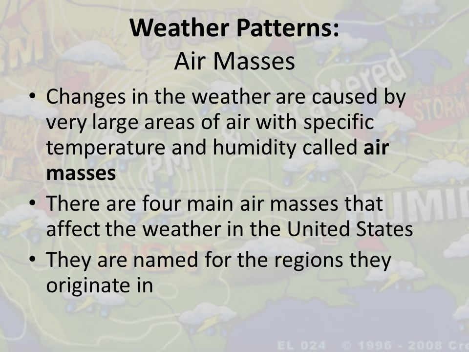 Weather Patterns: Air Masses
