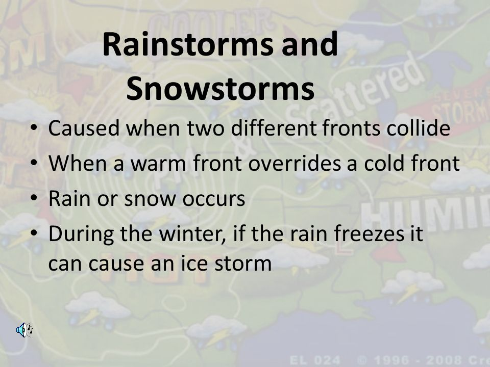 Rainstorms and Snowstorms