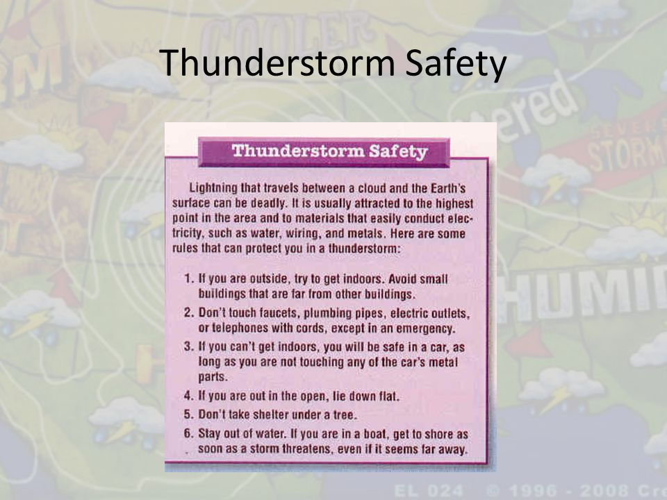 Thunderstorm Safety