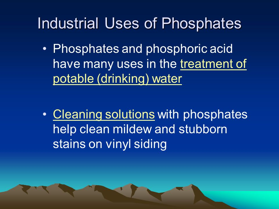Industrial Uses of Phosphates