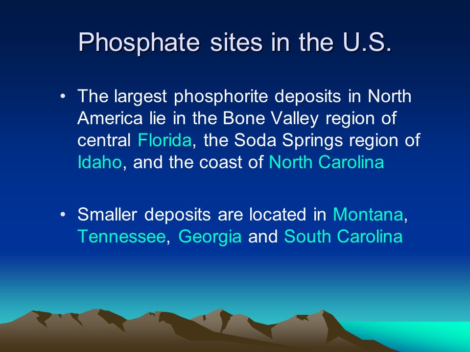Phosphate sites in the U.S.