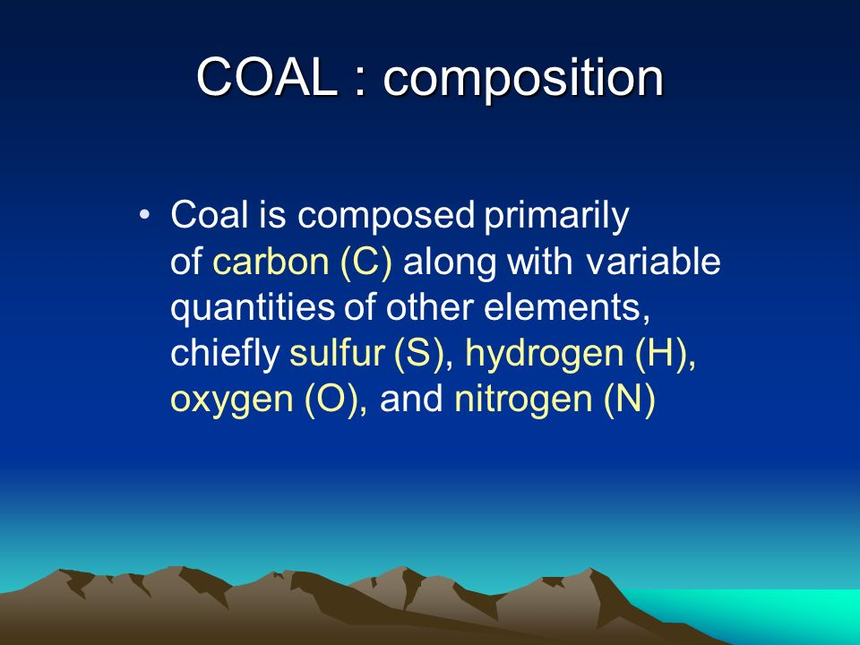 COAL : composition