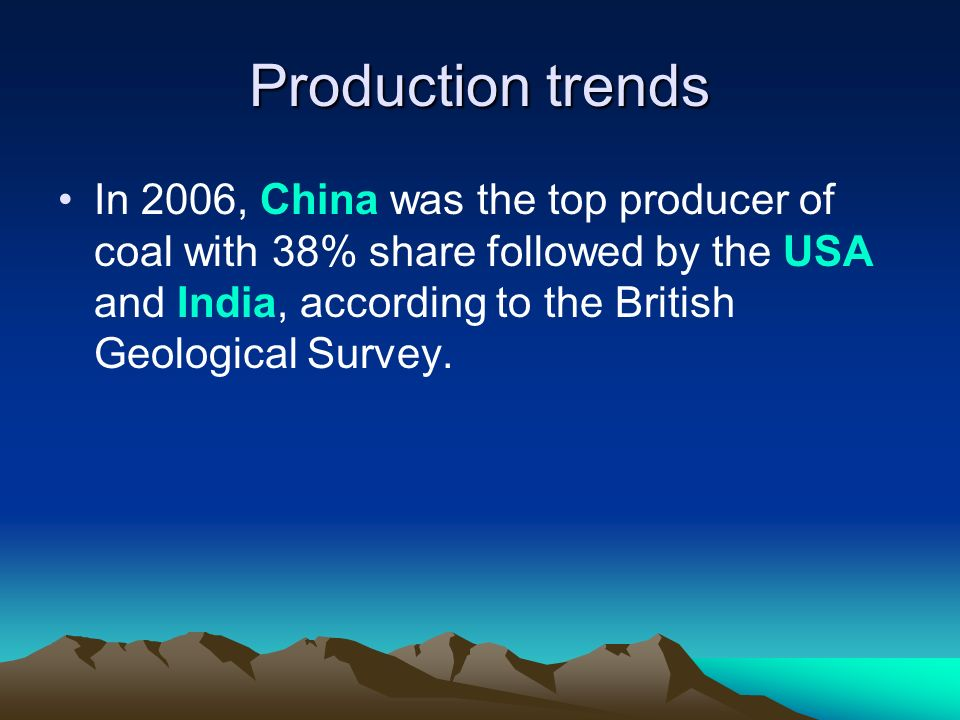 Production trends
