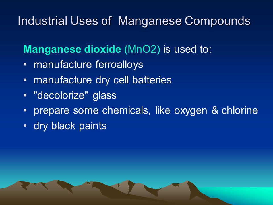 Industrial Uses of Manganese Compounds