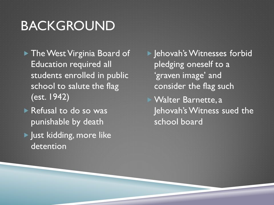 west virginia board of education v barnette